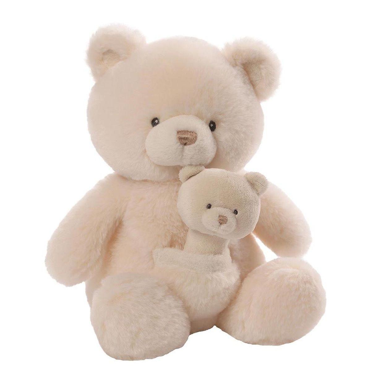 Gund Мягкая игрушка Oh So Soft Bear & Rattle Combo 28 см