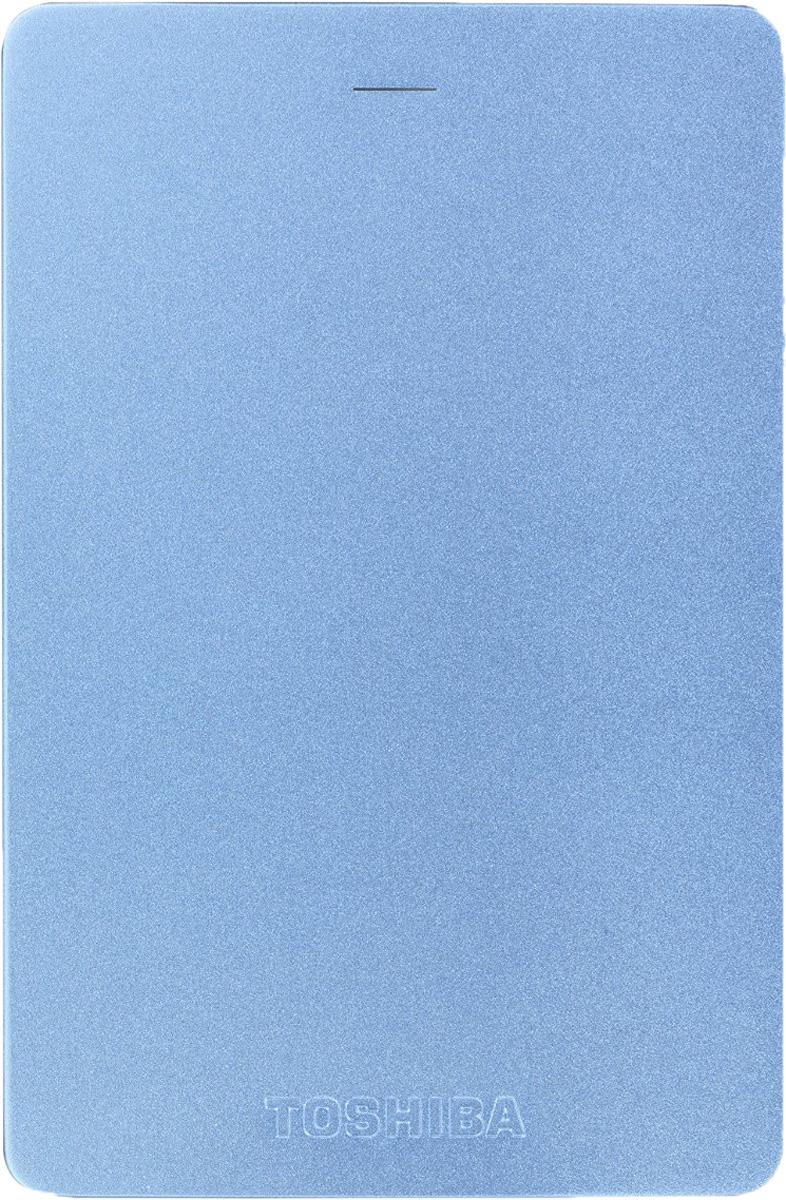 Toshiba Canvio Alu 1TB, Blue внешний жесткий диск (HDTH310EL3AA) - Носители информации