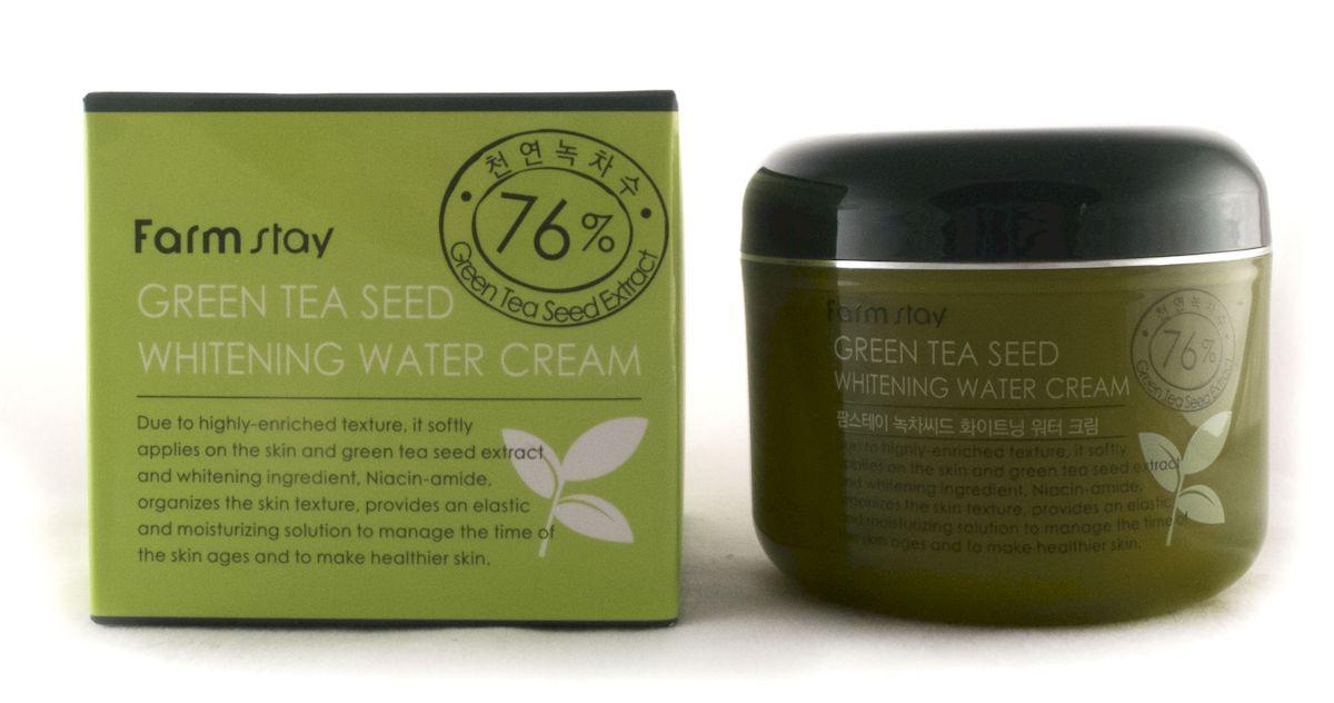 FarmStay Увлажняющий осветляющий крем с семенами зеленого чая, 100 г7287065Увлажняющий осветляющий крем для лица на водной основе, базируется на экстракте семян зеленого чая. Крем подходит для всех типов кожи.