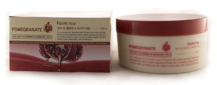 FarmStay Очищающий массажный крем с экстрактом ганата, 300 г7287836Очищающий крем для лица с экстрактом граната аккуратно и тщательно удаляет макияж и ежедневные загрязнения из пор, сохраняя кожу чистой, гладкой и свежей. Экстракт граната ухаживает за кожей лица, предохраняя ее от обезвоживания и потери влаги, обладает противовоспалительными и антиоксидантными свойствами, ускоряет регенерацию и быстро заживляет микротрещинки, слегка осветляет кожный покров. Массажный крем для очищения эффективно увлажняет дерму и удаляет омертвевшие клетки, обладает расслабляющим эффектом, который достигается благодаря массажу кожи.