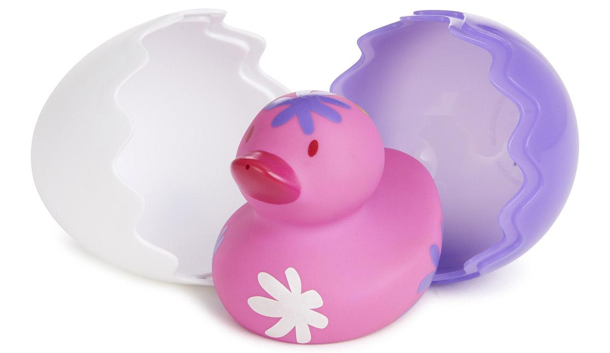 Munchkin Игрушка для ванной Утенок цвет фиолетовый белый
