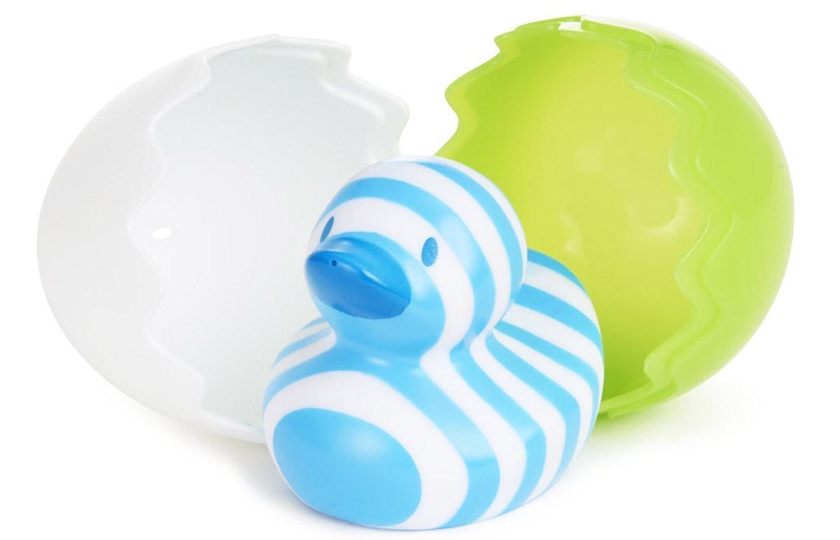 Munchkin Игрушка для ванной Утенок цвет зеленый белый munchkin игрушка для ванной змейка