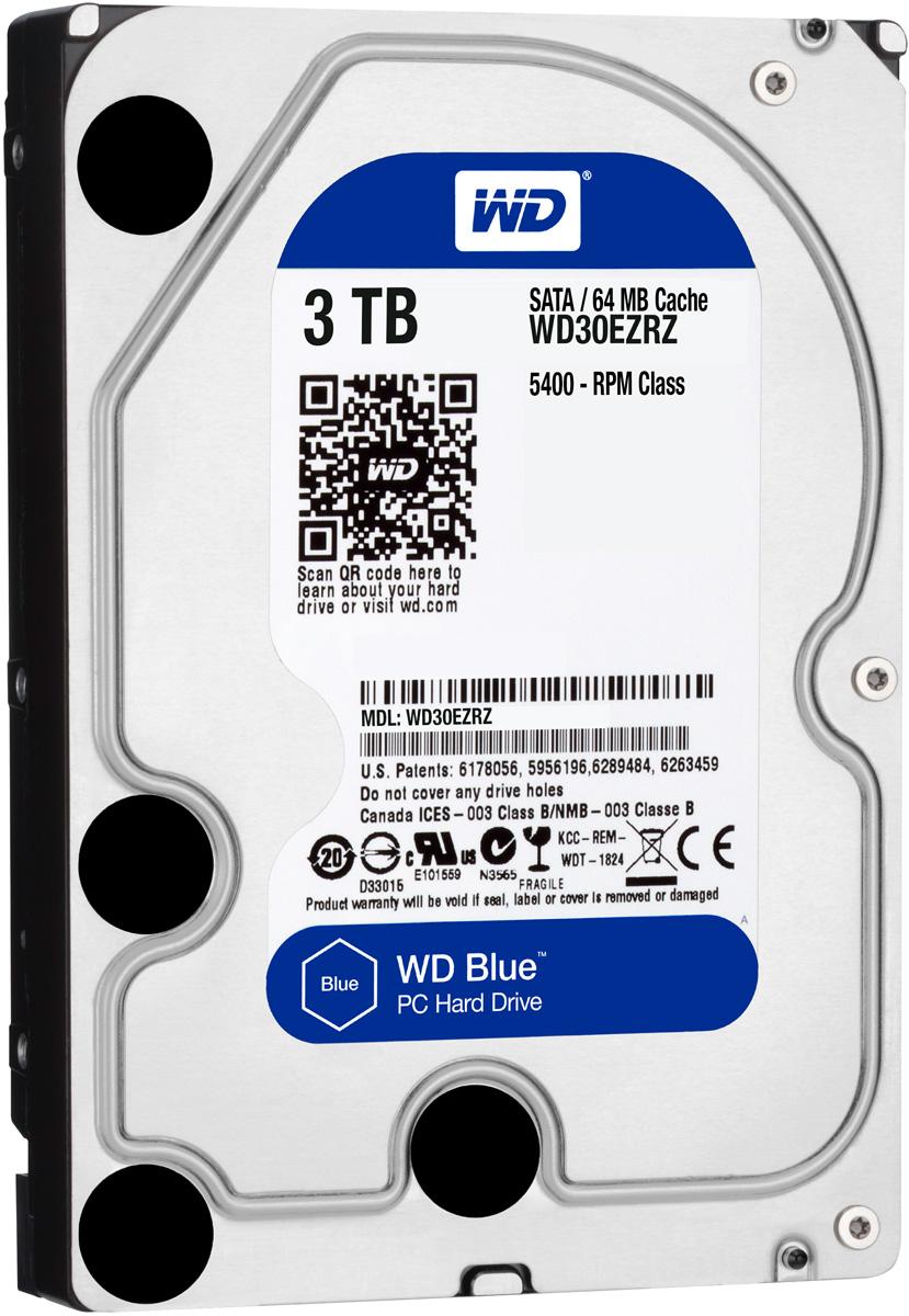 WD Blue 3TB внутренний жесткий диск (WD30EZRZ)WD30EZRZУвеличьте емкость ПК с помощью накопителей WD Blue, разработанных специально для настольных и моноблочных ПК. Линейка накопителей WD Blue позволяет увеличить объем хранения данных до 6 ТБ. Накопители WD поставляются с бесплатным доступом к программе WD Acronis True Image. Функции резервного копирования и восстановления позволяют легко сохранять и извлекать личные данные без переустановки системы.Каждый накопитель WD Blue проектируется, тестируется и производится на совесть. Кроме того, на все накопители этой линейки предоставляется двухгодичная гарантия.Технология бесконтактного считывания NoTouch обеспечивает безопасное расположение записывающей головки относительно поверхности накопителя для защиты данных. Данная модель также оснащена функцией IntelliSeek. Она вычисляет оптимальное время поиска, что помогает уменьшить уровень энергопотребления, шума и вибрации.