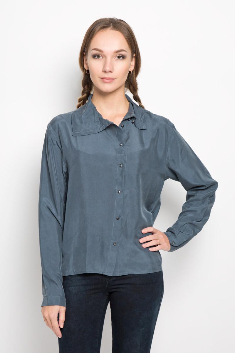 Купить Блузка женская Diesel, цвет: серо-синий. 00STN6-0IAMT. Размер S (42)