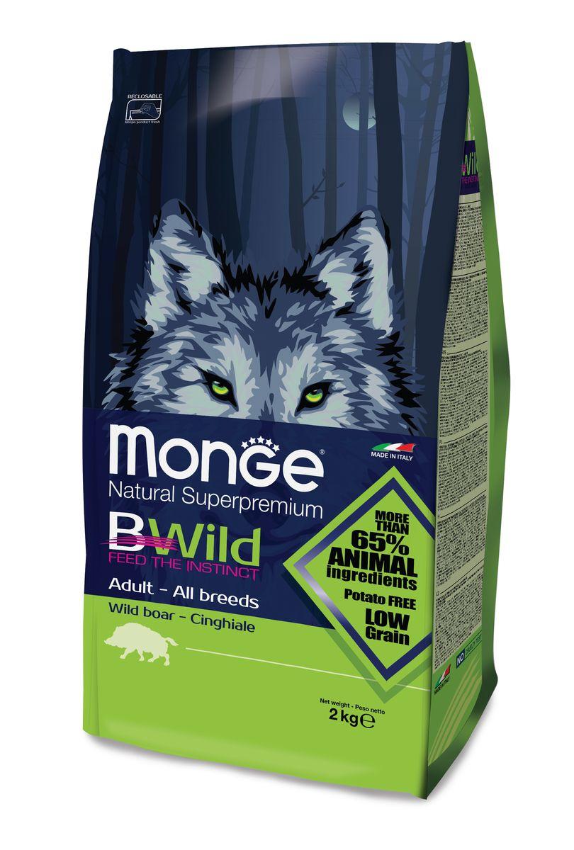 """Корм сухой Monge """"Bwild Dog Boar"""", для взрослых собак, с мясом дикого кабана, 2 кг"""