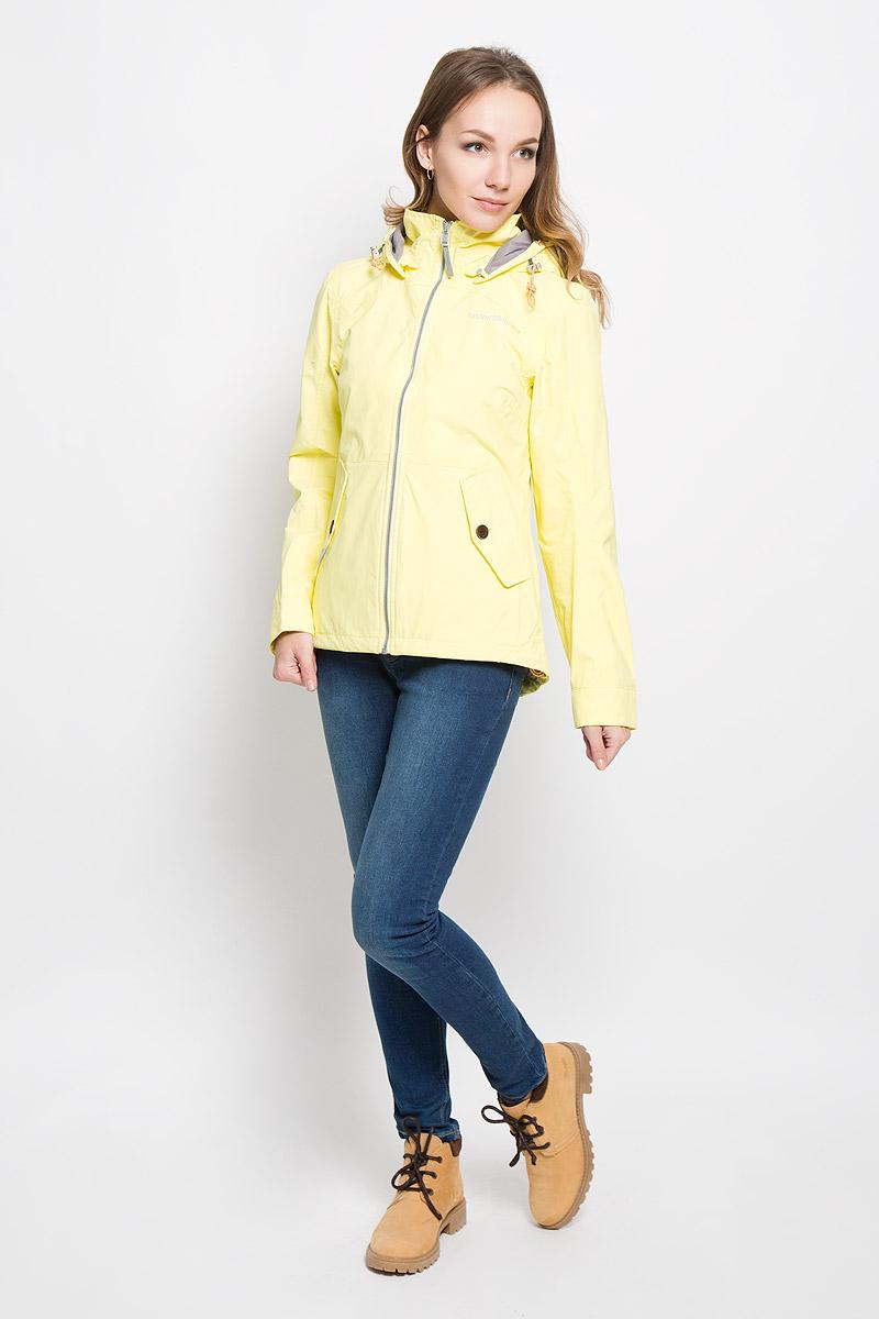 Куртка женская Didriksons1913 Lea, цвет: лимонно-кремовый. 500372_284. Размер 38 (46)500372_284Удобная женская куртка Didriksons1913 Lea согреет вас в прохладную погоду и позволит выделиться из толпы. Модель с длинными рукавами и съемным капюшоном на змейке выполнена из водонепроницаемой и непродуваемой мембранной ткани. Проклеенные швы и дополнительная пропитка от внешней влаги обеспечивают максимальную защиту.Куртка застегивается на застежку-молнию спереди. Изделие дополнено двумя втачными карманами с клапанами на пуговицах спереди и внутренним втачным карманом на застежке-молнии с отверстием для наушников, а также внутренним накладным карманом на кнопке. Манжеты рукавов застегиваются на пуговицы. Капюшон и низ куртки дополнены шнурком-кулиской со стопперами.Эта модная и в то же время комфортная куртка - отличный вариант для прогулок, она подчеркнет ваш изысканный вкус и поможет создать неповторимый образ.