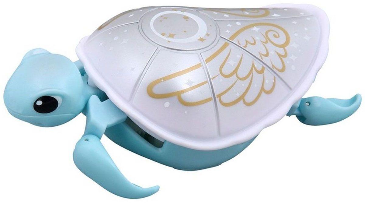 Moose Интерактивная игрушка Черепашка цвет голубой белый черепашка нажимай и догоняй