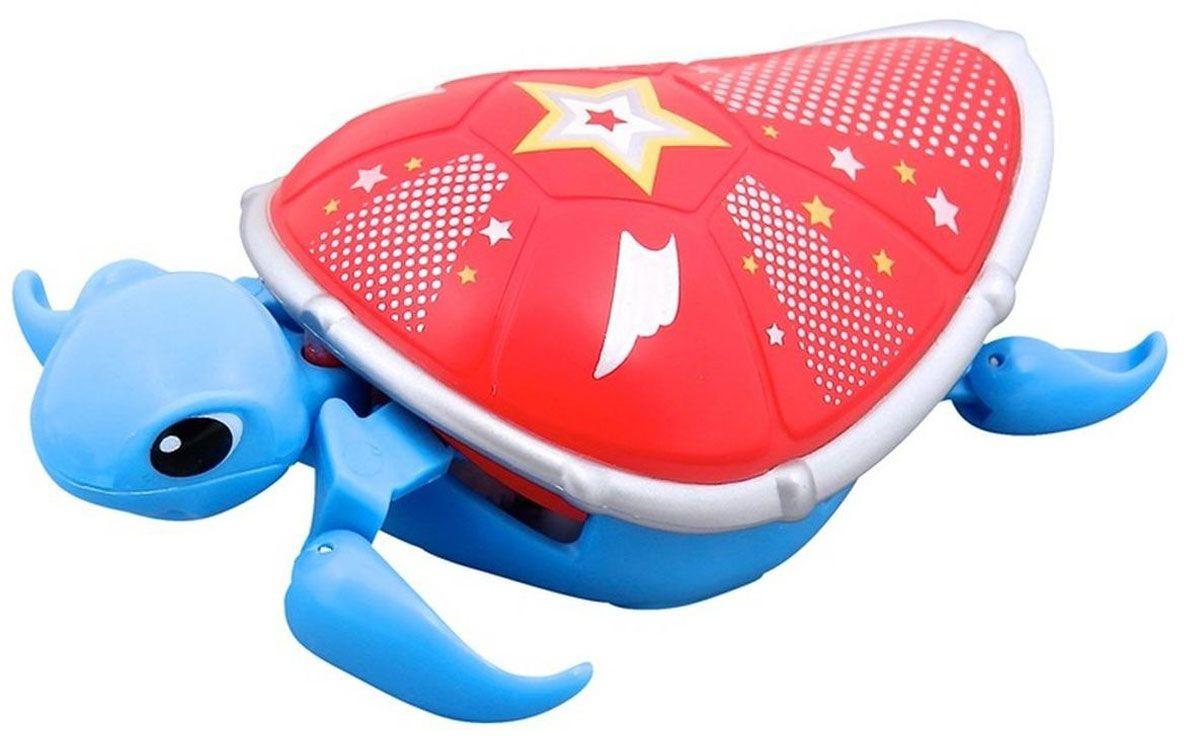 Moose Интерактивная игрушка Черепашка цвет синий красный черепашка нажимай и догоняй