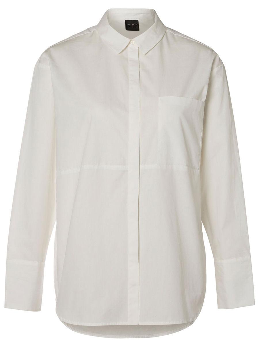 Рубашка женская Selected Femme, цвет: молочный. 16052017. Размер 40 (46) женская рубашка european and american big c002617 2015