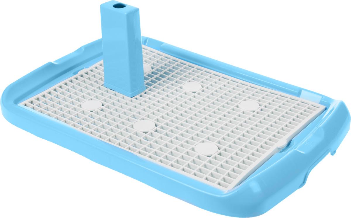 Туалет для собак Triol, со столбиком, цвет: голубой, белый, 60 х 40 х 4,5 смМт-500_голубойТуалет Triol, изготовленный из высококачественногопластика, предназначен для собак и щенков. Съемныйстолбик легко крепится на решетку и позволяет применятьтуалет независимо от пола собаки. Гигиеническаяпеленка помещается под решетку, которая удерживаетсябоковыми фиксаторами.Туалет легко моется водой. Размер туалета (без учета столбика): 60 х 40 х 4,5 см.Высота столбика: 17 см.