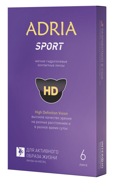 Adria Контактные линзы Morning Q55 / 6 шт / +1.50 / 8.6 / 14.2ФМ000000199Adria Sport - четкие линзы для активного образа жизни. Прозрачные линзы Adria Sport подходят как для профессиональных, так и любительских видов спорта и физической активности.В отличие от простых гидрогелевых линз, Adria Sport обеспечивают стабильное поступление кислорода к глазам все время физической активности за счет содержания в материале линзы гиалуроната натрия.Линза обеспечивает четкое зрение и широкий угол обзора, а также расширяет возможности бокового зрения. Запатентованная американская технология PolyVue High Definition Vision позволяет видеть четко и ясно: в разных условиях освещения открытых и закрытых помещений; вблизи и вдаль; в светлое и темное время суток.Матрица линзы сохраняет возможность быстрой фокусировки глаза даже при условиях динамичных игр командных видов спорта. Линза создает антибликовый эффект при ослеплении солнцем и ярким светом. Неионный материал делает линзу устойчивой к повышенным белковым отложениям и поту.Благодаря гиалуронату натрия линза остается чистой и увлажненной долгое время, а глаз не подвержен инфекциям. Тонкий и закругленный край линзы, обеспечивает комфорт ношения при продолжительных физических нагрузках. При различных игровых столкновениях и ударах линза сохраняет свою форму и качество зрения.