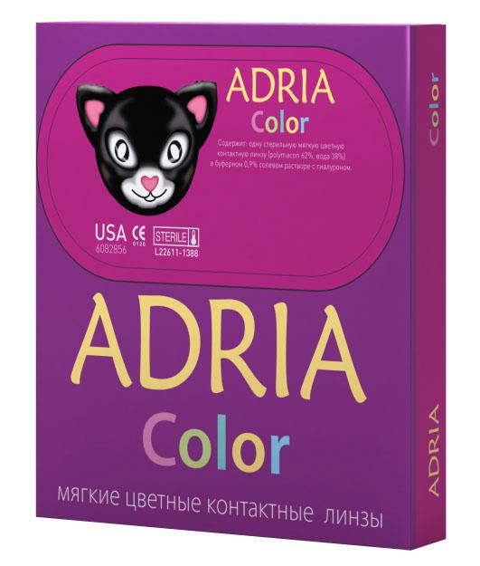 Adria Контактные линзы Сolor 1 tone / 2 шт / -5.00 / 8.6 / 14 / Gray контактные линзы 1 day adria glamorous color 2 шт 8 6 14 5 pure gold 2 5 1 упак