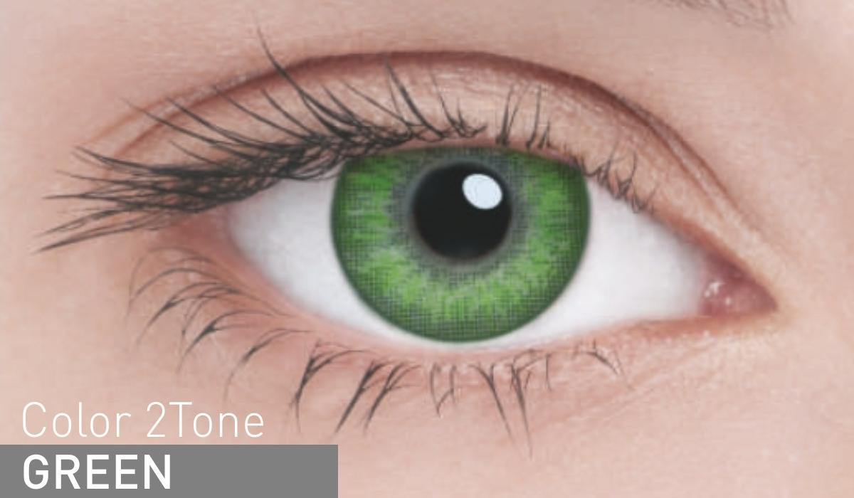 AdriaКонтактные линзы Сolor 2 tone / 2 шт / -1. 50 / 8. 6 / 14. 2 / Green Adria