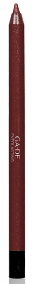 GA-DE Карандаш для губ Everlasting, тон № 90, 0,5 г122500090Плотная силиконовая текстура. Матовые и глянцевые оттенки. Устойчивая формула. Аргановое масло защищает кожу губ и обеспечивает мягкое и комфортное нанесение. Силиконовый карандаш корректирует контур губ. Он проводит чуть матовую линию, заполняет собой морщинки и не дает помаде или блеску растекаться. Хорошо подходят для использования летом и во время отпуска, так как не будет растекаться под воздействием солнца и жары.