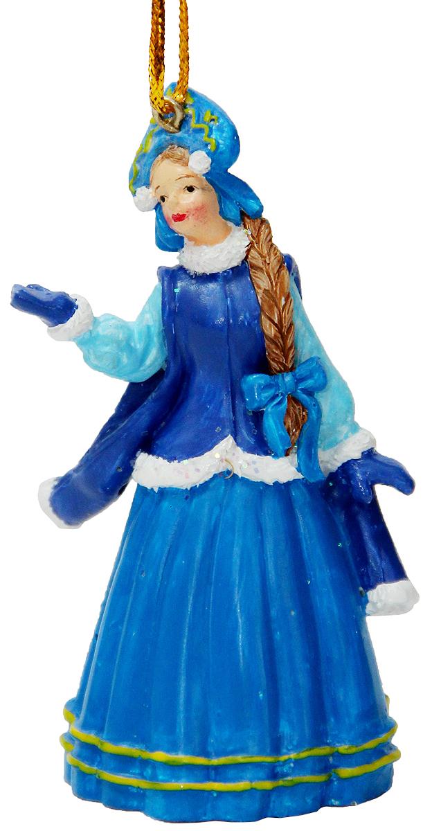 Украшение новогоднее подвесное Magic Time, 4,6 х 3,5 х 8 см. 3832038320Новогоднее подвесное украшение Magic Time выполнено из полирезины в виде Снегурочки. С помощью специальной петельки украшение можно повесить в любом понравившемся вам месте. Но, конечно, удачнее всего оно будет смотреться на праздничной елке.Елочная игрушка - символ Нового года. Она несет в себе волшебство и красоту праздника. Создайте в своем доме атмосферу веселья и радости, украшая новогоднюю елку нарядными игрушками, которые будут из года в год накапливать теплоту воспоминаний.