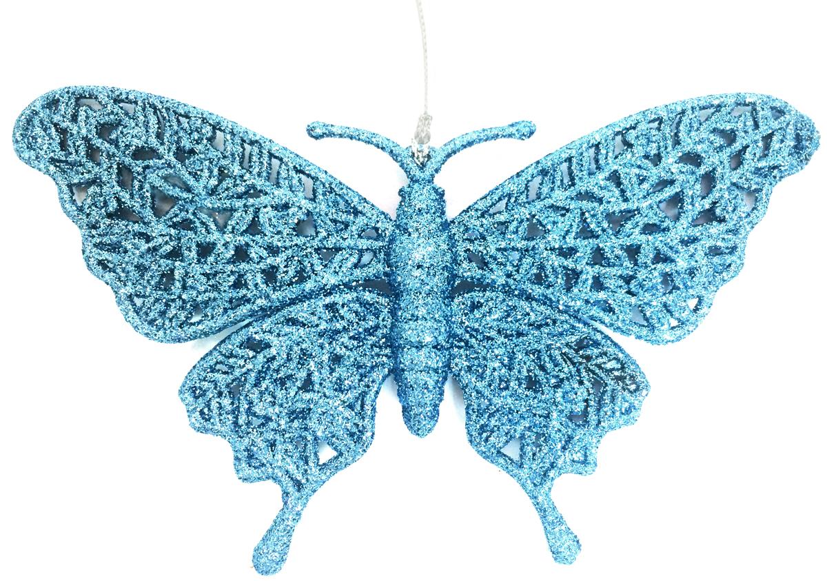 Украшение новогоднее подвесное Magic Time Бабочка, цвет: голубой, 16,7 х 10 см38705/75074Новогоднее подвесное украшение Magic Time Бабочка выполнено из полипропилена и украшено блестками. С помощью специальной петельки украшение можно повесить в любом понравившемся вам месте. Но, конечно, удачнее всего оно будет смотреться на праздничной елке.Елочная игрушка - символ Нового года. Она несет в себе волшебство и красоту праздника. Создайте в своем доме атмосферу веселья и радости, украшая новогоднюю елку нарядными игрушками, которые будут из года в год накапливать теплоту воспоминаний.