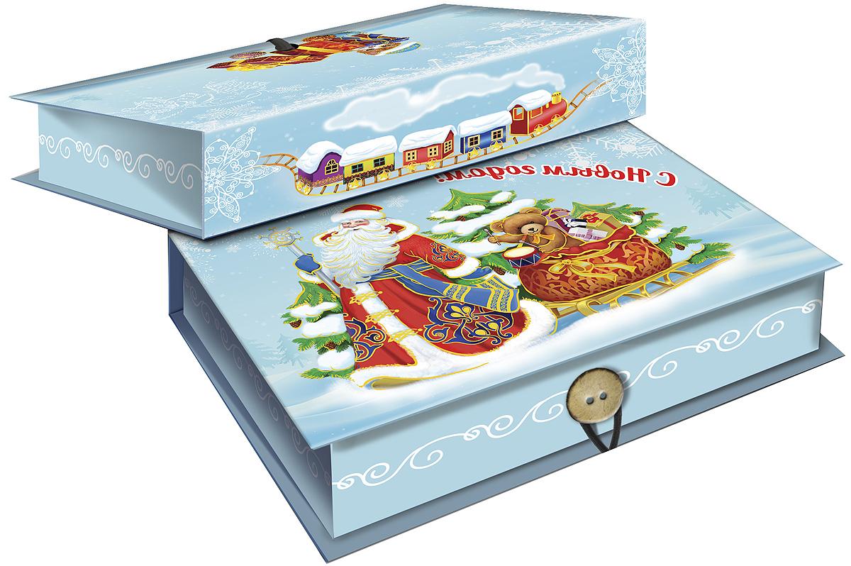 Коробка подарочная Magic Time Дед Мороз и медвежонок, 20 х 14 х 6. 3926639266Подарочная коробка Magic Time Дед Мороз и медвежонок, выполненная из мелованного, ламинированного картона, закрывается на пуговицу. Крышка оформлена декоративным рисунком.Подарочная коробка - это наилучшее решение, если вы хотите порадовать ваших близких и создать праздничное настроение, ведь подарок, преподнесенный в оригинальной упаковке, всегда будет самым эффектным и запоминающимся. Окружите близких людей вниманием и заботой, вручив презент в нарядном, праздничном оформлении.Плотность картона: 1100 г/м2.