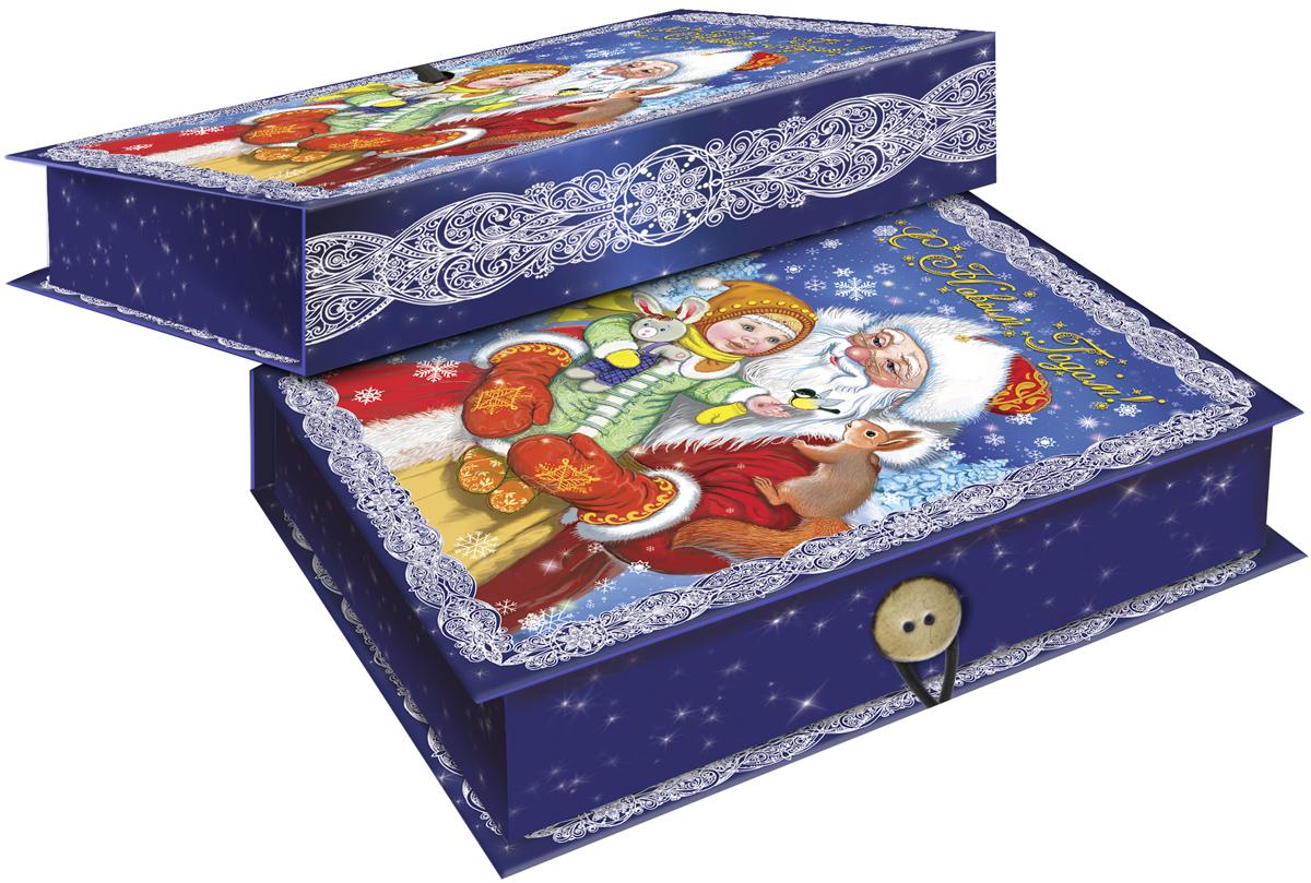 Коробка подарочная Magic Time Дедушка Мороз с девочкой, 18 х 12 х 5 см. 4177441774Подарочная коробка Magic Time Дедушка Мороз с девочкой, выполненная из мелованного, ламинированного картона, закрывается на пуговицу. Крышка оформлена декоративным рисунком.Подарочная коробка - это наилучшее решение, если вы хотите порадовать ваших близких и создать праздничное настроение, ведь подарок, преподнесенный в оригинальной упаковке, всегда будет самым эффектным и запоминающимся. Окружите близких людей вниманием и заботой, вручив презент в нарядном, праздничном оформлении.Плотность картона: 1100 г/м2.
