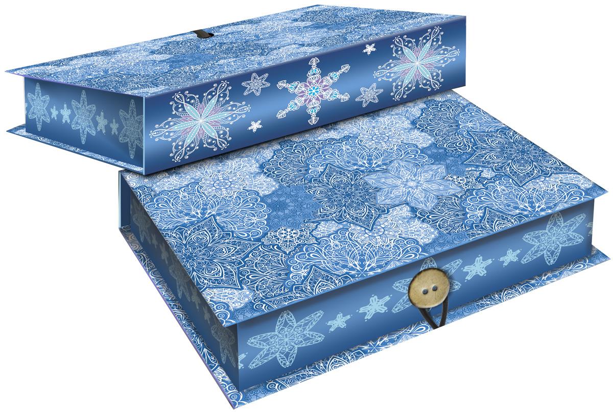 Коробка подарочная Magic Time Морозные узоры, 18 х 12 х 5 см. 4177841778Подарочная коробка Magic Time Морозные узоры, выполненная из мелованного, ламинированного картона, закрывается на пуговицу. Крышка оформлена декоративным рисунком.Подарочная коробка - это наилучшее решение, если вы хотите порадовать ваших близких и создать праздничное настроение, ведь подарок, преподнесенный в оригинальной упаковке, всегда будет самым эффектным и запоминающимся. Окружите близких людей вниманием и заботой, вручив презент в нарядном, праздничном оформлении.Плотность картона: 1100 г/м2.
