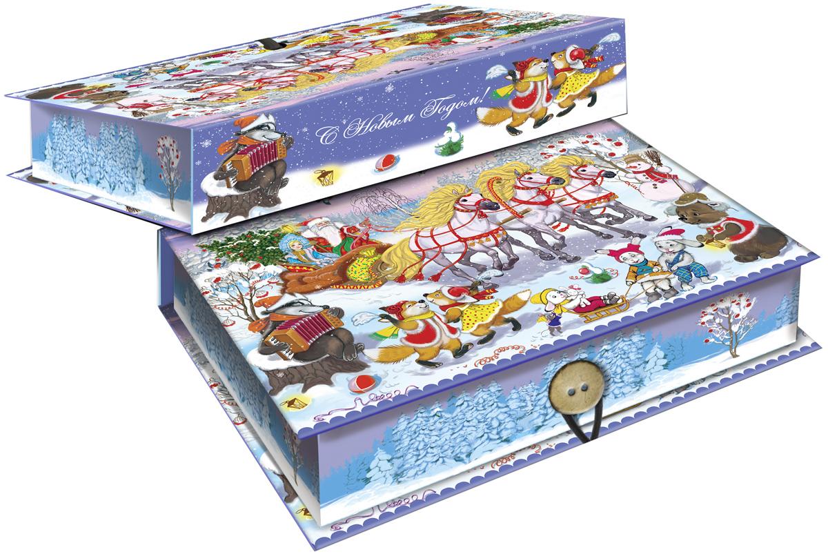 Коробка подарочная Magic Time Новогодний праздник, 18 х 12 х 5 см. 4178041780Подарочная коробка Magic Time Новогодний праздник, выполненная из мелованного, ламинированного картона, закрывается на пуговицу. Крышка оформлена декоративным рисунком.Подарочная коробка - это наилучшее решение, если вы хотите порадовать ваших близких и создать праздничное настроение, ведь подарок, преподнесенный в оригинальной упаковке, всегда будет самым эффектным и запоминающимся. Окружите близких людей вниманием и заботой, вручив презент в нарядном, праздничном оформлении.Плотность картона: 1100 г/м2.