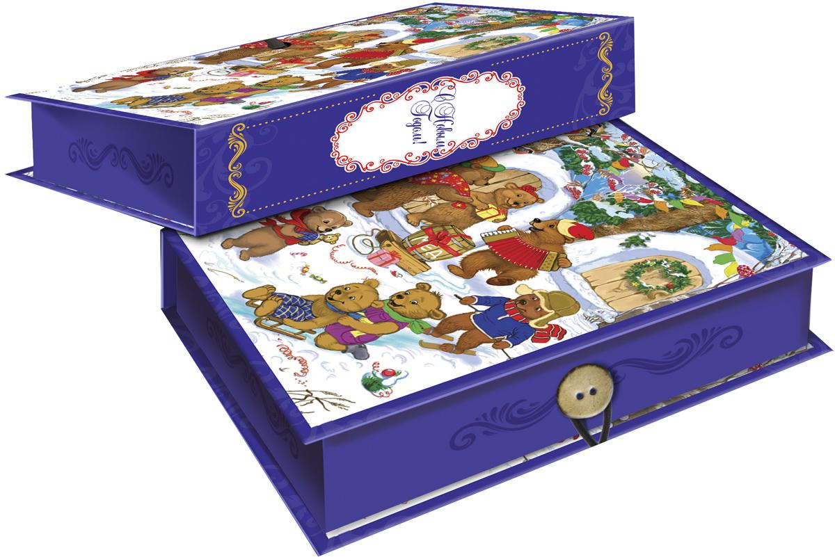 Коробка подарочная Magic Time Медвежата, 18 х 12 х 5 см. 4178841788Подарочная коробка Magic Time Медвежата,выполненная измелованного, ламинированного картона,закрывается на пуговицу. Крышка оформлена декоративным рисунком. Подарочная коробка - это наилучшее решение, если вы хотите порадовать вашихблизких и создать праздничное настроение, ведь подарок, преподнесенный воригинальной упаковке, всегда будет самым эффектным и запоминающимся.Окружите близких людей вниманием и заботой, вручив презент в нарядном,праздничном оформлении. Плотность картона: 1100 г/м2.