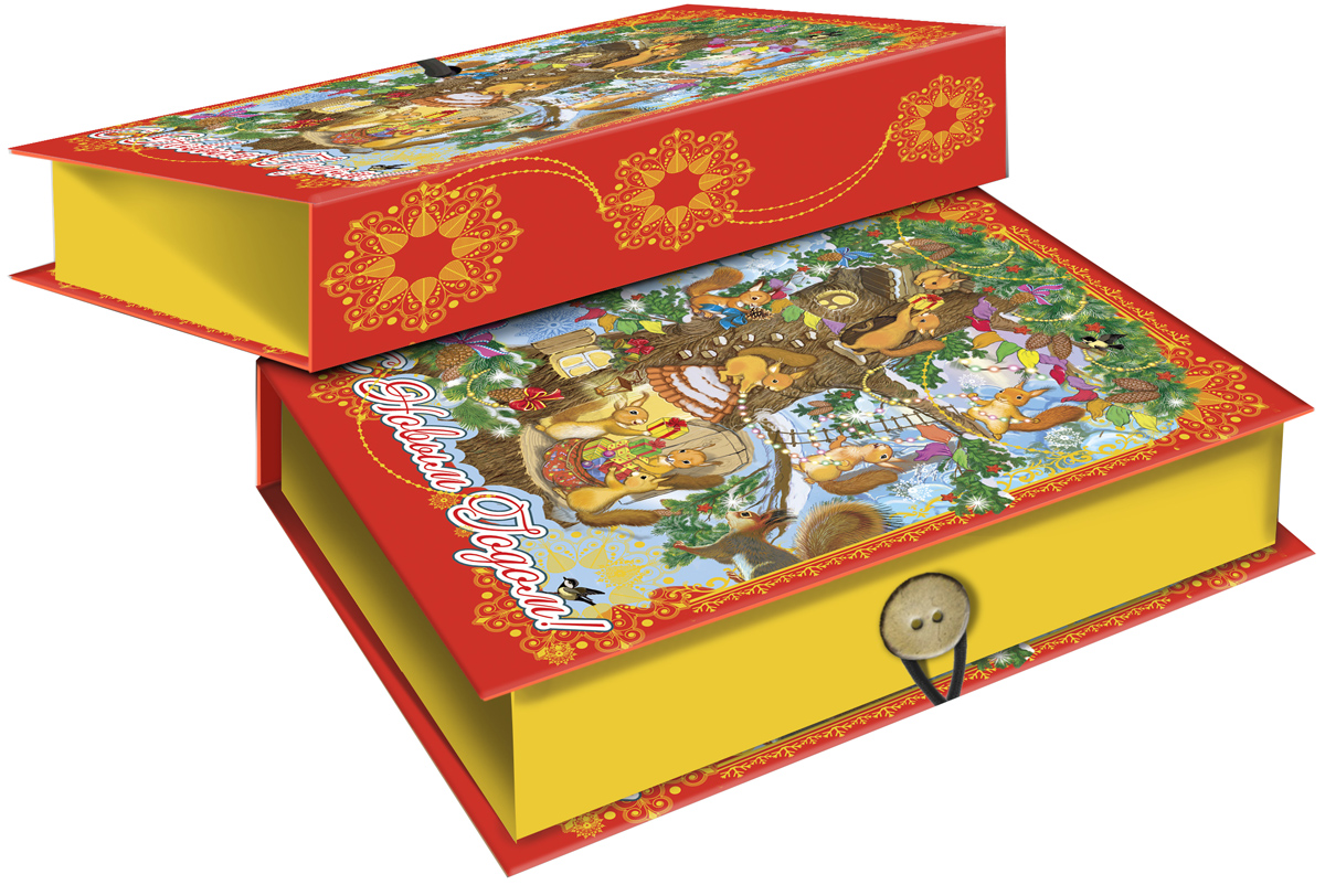 Коробка подарочная Magic Time Белочки, 18 х 12 х 5 см. 4179241792Подарочная коробка Magic Time Белочки,выполненная измелованного, ламинированного картона,закрывается на пуговицу. Крышка оформлена декоративным рисунком. Подарочная коробка - это наилучшее решение, если вы хотите порадовать вашихблизких и создать праздничное настроение, ведь подарок, преподнесенный воригинальной упаковке, всегда будет самым эффектным и запоминающимся.Окружите близких людей вниманием и заботой, вручив презент в нарядном,праздничном оформлении. Плотность картона: 1100 г/м2.