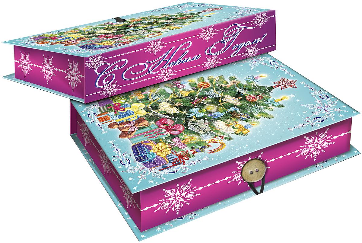 Коробка подарочная Magic Time Пушистая елочка, 18 х 12 х 5 см. 4179441794Подарочная коробка Magic Time Пушистая елочка, выполненная из мелованного, ламинированного картона, закрывается на пуговицу. Крышка оформлена декоративным рисунком.Подарочная коробка - это наилучшее решение, если вы хотите порадовать ваших близких и создать праздничное настроение, ведь подарок, преподнесенный в оригинальной упаковке, всегда будет самым эффектным и запоминающимся. Окружите близких людей вниманием и заботой, вручив презент в нарядном, праздничном оформлении.Плотность картона: 1100 г/м2.