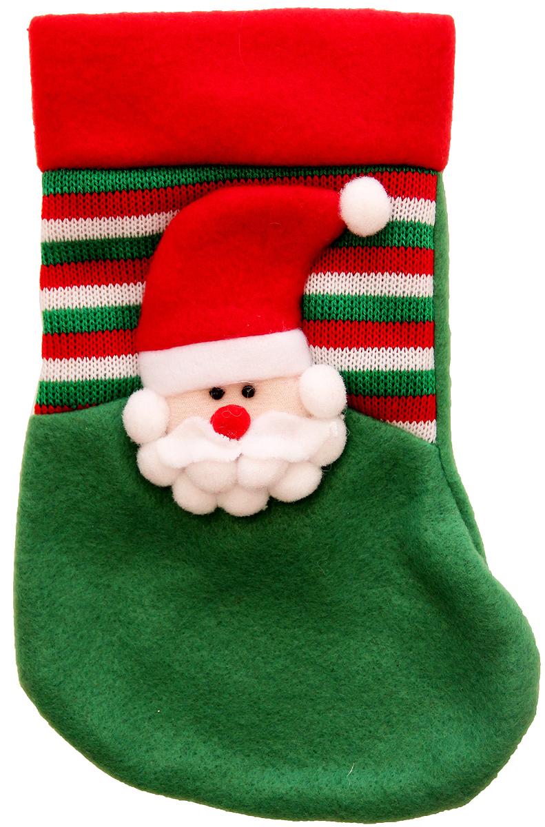 Мешок для подарков Феникс-Презент Носок. Дед Мороз, 25 х 14 см. 4251142511Мешок для подарков Феникс-Презент Носок. Дед Мороз выполнен из полиэстера в виде носка с изображением Деда Мороза. В мешочек можно спрятать подарки. С помощью специальной петельки украшение можно повесить в любом понравившемся вам месте.