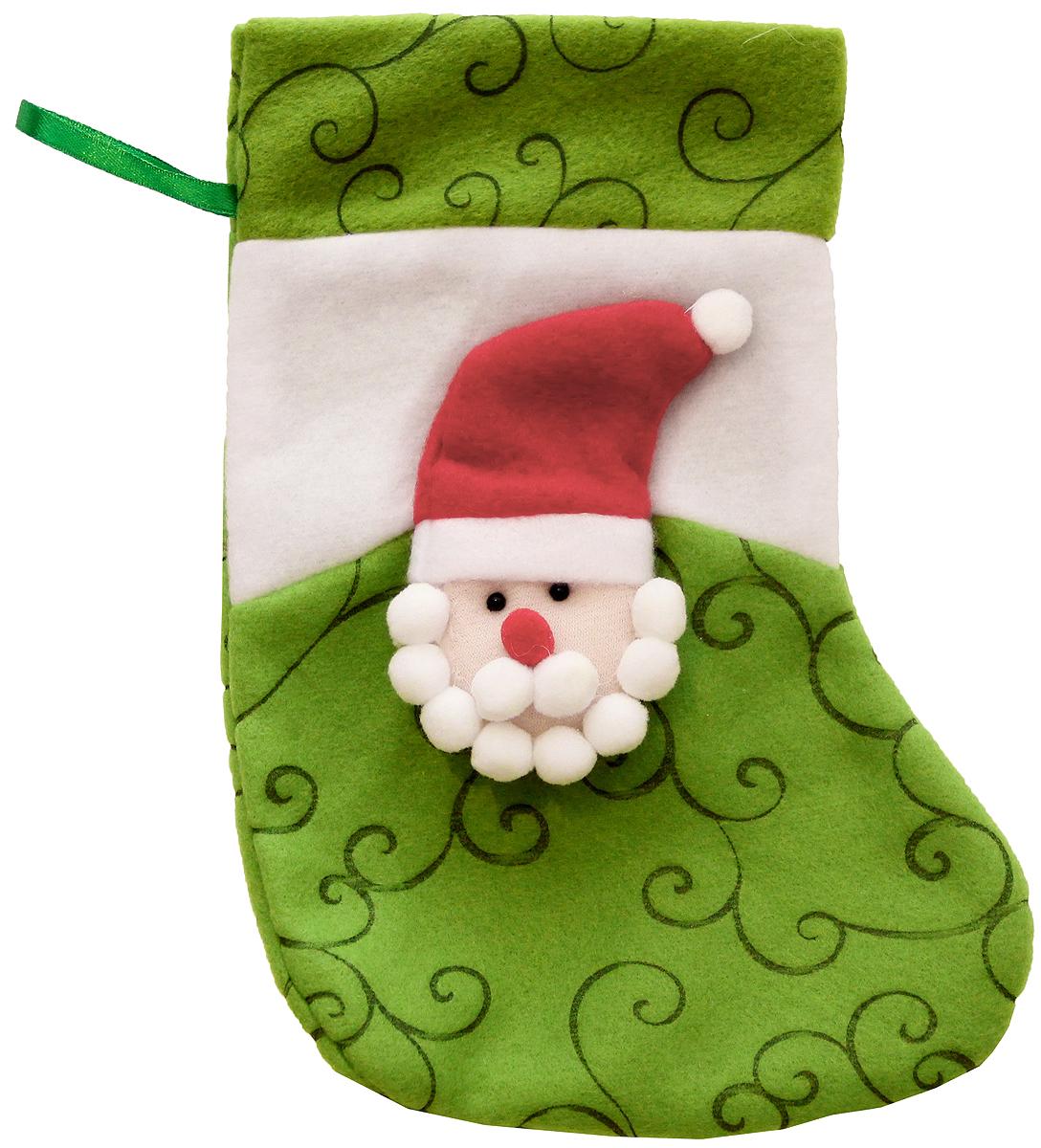 Мешок для подарков Феникс-Презент Носок. Дед Мороз, 24 x 13 см. 4251942519Мешок для подарков Феникс-Презент Носок. Дед Мороз выполнен из полиэстера в виде носка с изображением Деда Мороза. В мешочек можно спрятать подарки. С помощью специальной петельки украшение можно повесить в любом понравившемся вам месте.