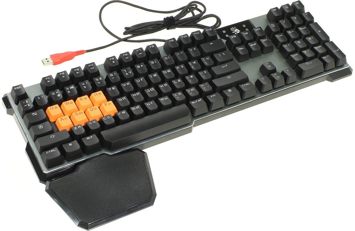 Игровая клавиатура A4Tech Bloody B720, Grey Black