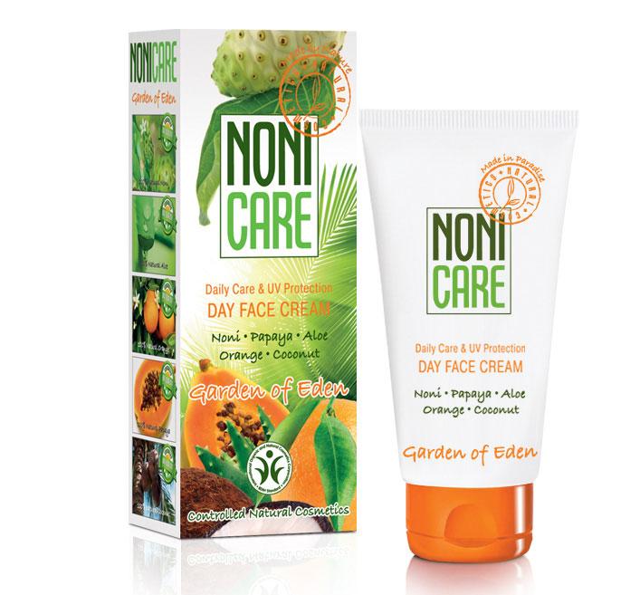 Nonicare Энергетический крем для лица с УФ-фильтрoм Garden Of Eden - Day Face Cream 50 мл5903240869442Эффективно защищает от неблагоприятной экологии и УФ излучения. Инициирует процессы самовосстановления кожи. Помогает нормализовать выделение кожного сала, очистить и заметно сузить расширенные поры. Борется с пигментацией и препятствует ее появлению. Нормализует процесс обновления кожи, разглаживает её поверхностный слой и устраняет мелкие морщинки, активно увлажняет. Крем выравнивает кожу и улучшает ее цвет. Создан на основе сока фрукта Нони, кокосового масла, масла подсолнечника, алоэ, экстракта карликовой пальмы, молочной кислоты, сквалана и устойчивых форм витаминов С и Е, экстракта ананаса, папайи и ванили, масла кожуры сладкого апельсина. Крем наполняет кожу влагой, внутренней энергией и сиянием. Препятствует утолщению рогового слоя (гиперкерато) кожи, вызванному УФ излучением. Восстанавливает её барьерные, влагоудерживающие и иммунные функции. Средство содержит фотофильтры из растительных масел, сквалана и витамина Е. Кожа становится более матовой, гладкой, эластичной. Защищена от вредного воздействия окружающей среды. Рекомендован для ежедневного применения для всех типов кожи и любого возраста.