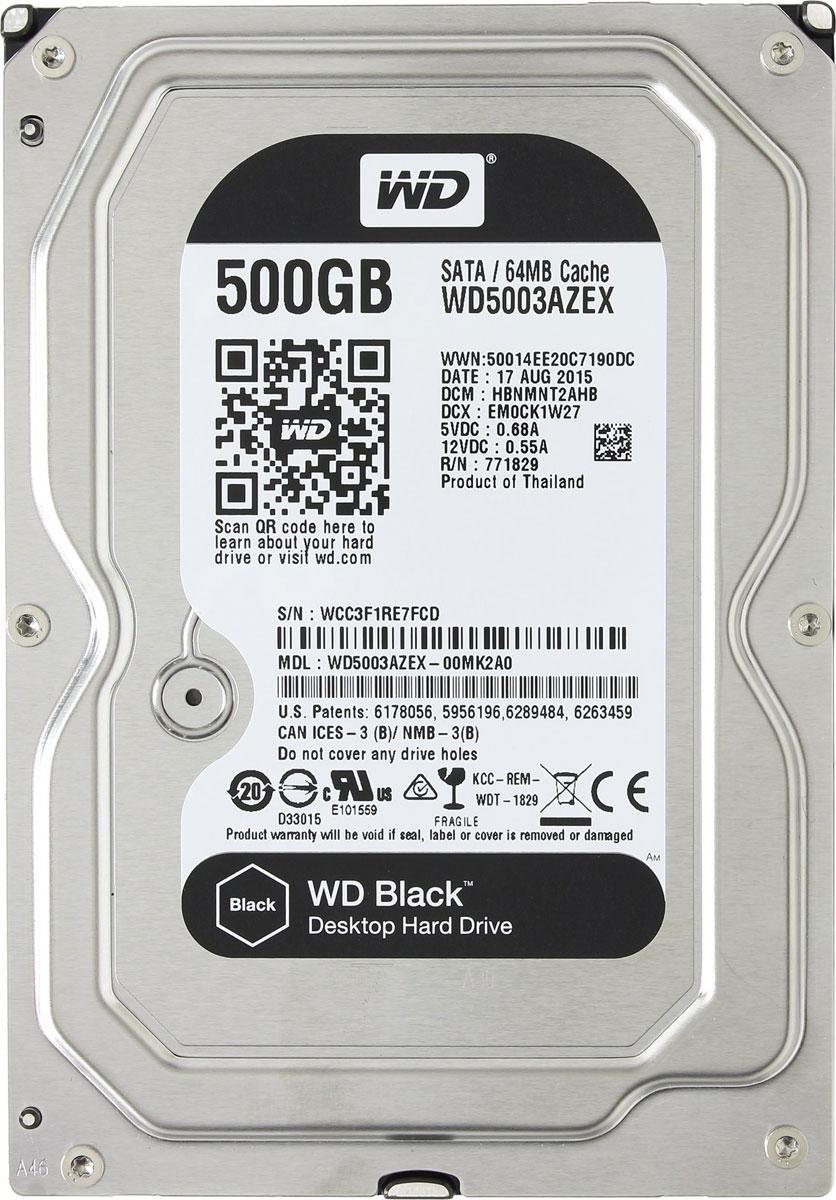 WD Black 500 GB внутренний жесткий диск (WD5003AZEX) - Комплектующие для компьютера