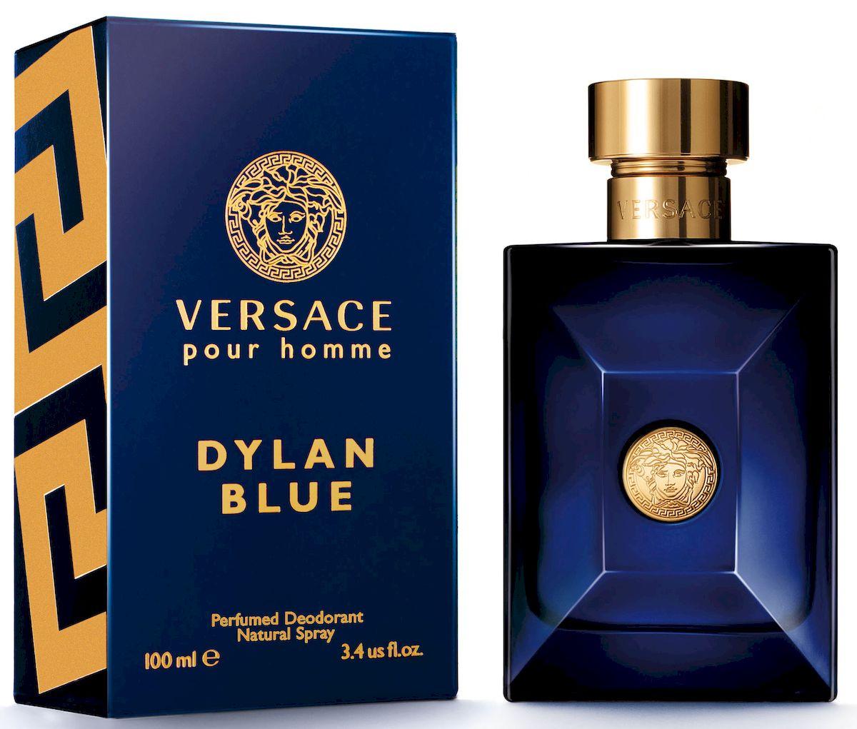 Versace Dylan Blue Дезодорант спрей 100 мл721020Dylan Blue - это воплощение современного мужчины Versace. Этот аромат с ярким индивидуальным характером пронизан мужественностью и харизмой. Уникальность этого фужерного аромата заключается в ярком древесном шлейфе - неповторимом сочетании природных компонентов и синтетических молекул последнего поколения.Верхняя нота: Калабрийский бергамот, Грейпфрут, Листья фигового дерева, Акватические ноты* (*фантазийный аккорд морской свежести).Средняя нота: Листья фиалки, Черный перец, Киприол, Амброксан, Пачули BIO.Шлейф: Минеральный мускус, Бобы тонка, Шафран, Ладан.Древесный ароматический фужерный.Dylan Blue - это воплощение современного мужчины Versace. Этот аромат с ярким индивидуальным характером пронизан мужественностью и харизмой.