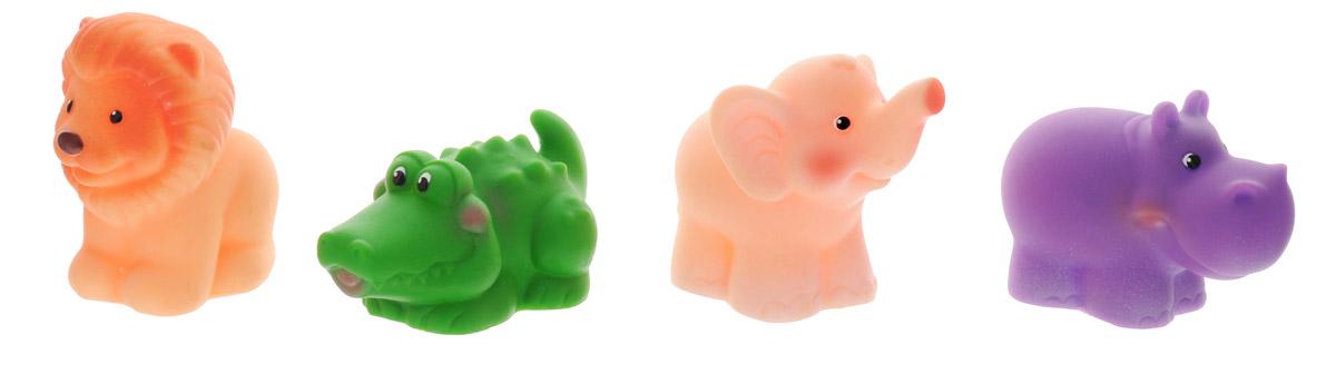 Огонек Набор игрушек для ванной Африка 4 шт жирафики набор игрушек для ванной лошадка и свинка