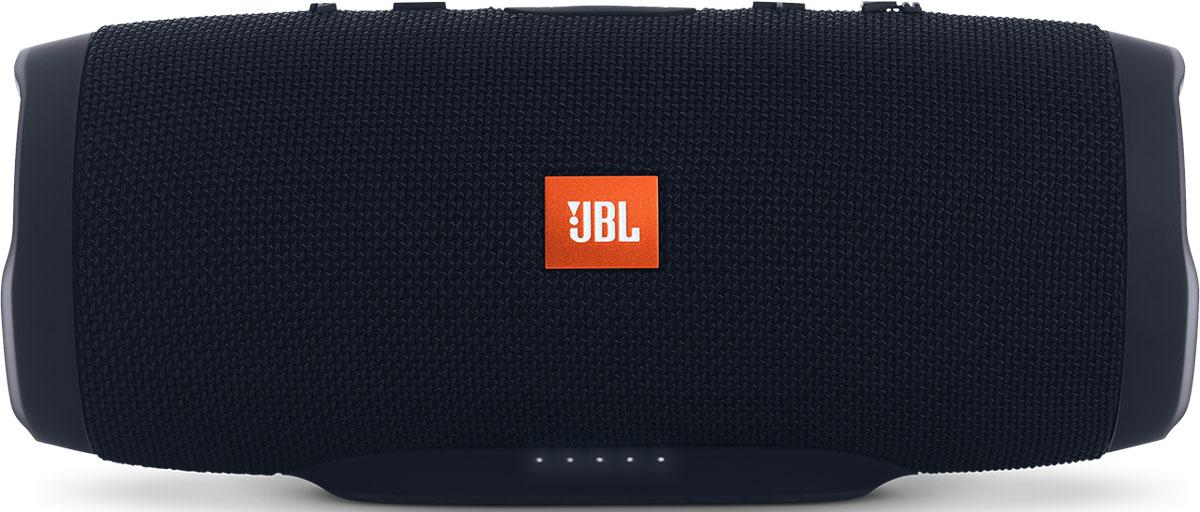 JBL Charge 3, Black портативная акустическая системаJBLCHARGE3BLKEUУникальная беспроводная портативная акустическая система JBL Charge 3 гарантирует мощный стерео-звук и источник энергии в одном устройстве. Благодаря водонепроницаемому прорезиненному тканевому корпусу вечеринку с Charge 3 можно устроить в любом месте — у бассейна и даже под дождем. Аккумулятор высокой емкости на 6000 мАч гарантирует бесперебойную работу в течение 15 часов и позволяет заряжать смартфоны и планшеты по USB. Встроенный микрофон с шумо- и эхоподавлением гарантирует идеально чистый звук во время телефонных разговоров по нажатию одной кнопки. Подключайте дополнительные колонки с поддержкой JBL Connect по беспроводному соединению для еще более мощного звука. Как выбрать портативную колонку. Статья OZON Гид