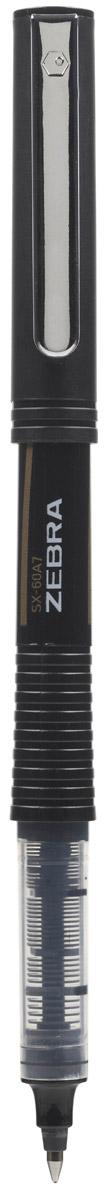Zebra Ручка-роллер SX-60A7 цвет чернил черный277754Zebra SX-60A7 – это удобная функциональная ручка-роллер современного дизайна. Корпус ручки выполнен из темного пластика. Рифленая вставка в цвет чернил в середине корпуса не только является удачным элементом декора, но и создает дополнительный комфорт при письме. Прочный стальной зажим обтекаемой формы точно вписывается в дизайн модели и придает законченность образу идеального пишущего инструмента. Стреловидный пишущий наконечник пишет ровно и аккуратно до последней капли чернил.