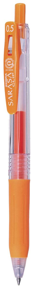 Zebra Ручка гелевая Sarasa Clip цвет оранжевый306 306044Достоинство ручки Zebra Sarasa Clip - мягкость и плавность письма, аккуратные тонкие линии. Несомненный плюс этой модели - клип-прищепка, который позволяет прикреплять ручку к поверхностям практически любой толщины. Ручкой удобно писать: приталенный корпус с рифлением дает дополнительный контроль при письме. Каплевидная передняя часть с каучуковой подушечкой для пальцев предотвращает усталость руки. Диаметр шарика у этой модели всего 0,5 мм, что гарантирует очень тонкую линию письма.