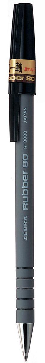Zebra Ручка шариковая Rubber 80 цвет корпуса серый305 207010Шариковая ручка Zebra Rubber 80 имеет долговечный стальной пишущий наконечник. Корпус из микропористого каучука обеспечивает особый комфорт, а четыре кольцевые канавки в передней части корпуса предотвращают скольжение пальцев и дают дополнительный контроль при письме.