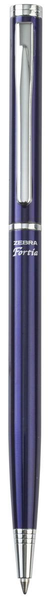 Zebra Ручка шариковая Fortia 500 цвет корпуса синий305 404020Шариковая ручка Zebra Fortia 500 имеет тонкий стильный корпус. Оснащена поворотным механизмом.Поставляется в подарочной картонной упаковке.
