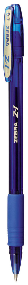 Zebra Ручка шариковая Z-1 Colour цвет корпуса синий305 250020Тонированный пластик корпуса глубоких насыщенных цветов, придает ручке Zebra Z-1 Colour современный и стильный дизайн с сохранением всех достоинств классической модели Z-1. Уникальные чернила, сочетающие свойства шариковых и гелевых ручек: как шариковые ручки - они экономичны (долго пишут), не растекаются под водой и не выцветают со временем, при этом обеспечивая мягкое и легкое письмо подобно гелевым.