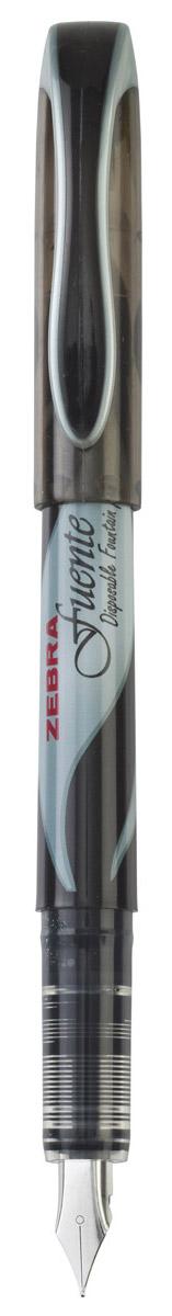 Zebra Ручка перьевая Fuente черная307 121010Перьевая ручка Zebra Fuente - классика в новом прочтении. Такая ручка обеспечит четкий цвет и мягкое письмо. Плавные выверенные линии сигарообразного корпуса безупречно сочетаются с футуристическим дизайном колпачкаручки. Увеличенный диаметр корпуса создает дополнительный комфорт при письме, благодаря чему рука меньше устает. Перо F обеспечивает тонкую, ровную, мягкую линию письма. Увеличенный объем чернил позволит использовать ручку дольше.