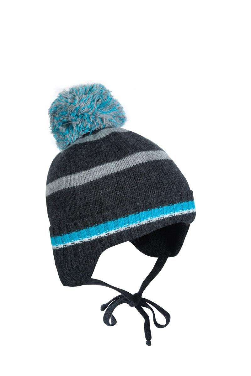 Шапка для мальчика OLDOS Классик, цвет: серый, бирюза. 1Ш1616. Размер 46/481Ш1616Шапка-бэби с завязками Классик из зимней коллекции OLDOS прекрасно защитит головку вашего малыша от снегопада, мороза и ветра. Такая шапка хорошо закрывает ушки, завязки фиксируют шапку так, чтобы ничего не мешало игре или прогулке. Шапка мягкая и теплая благодаря утеплителю холлофайбер плотностью 70 г и составу пряжи 70% шерсть и 30% акрил. Подкладка из вискозы отводит излишнюю влагу и сохраняет ощущение комфорта во время прогулок. Шапка дополнена декоративным отворотом и съемным нитяным помпоном.