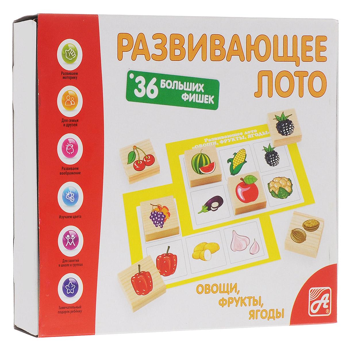 Развивающие деревянные игрушки Лото Овощи фрукты ягоды книги эксмо натуральная аптечка ягоды овощи фрукты пряные травы