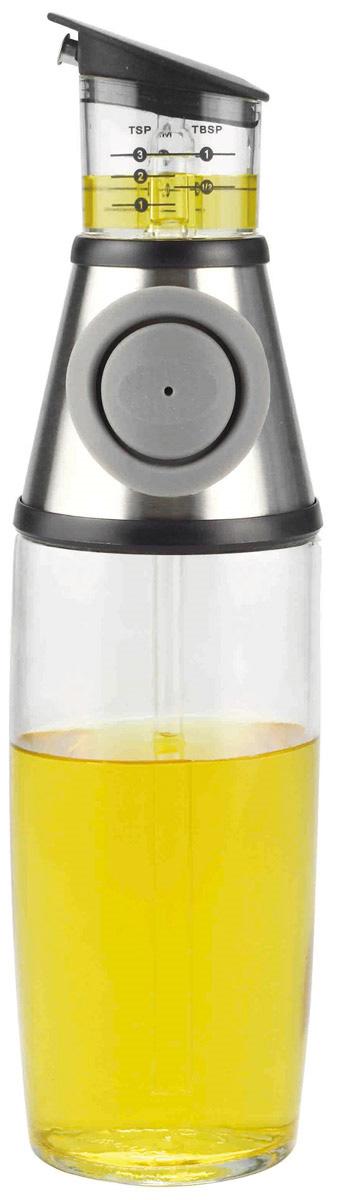 Диспенсер для масла и уксуса SinoGlass Press & Measure, 500 мл8400740Стильный диспенсер SinoGlass Press & Measure выполнен из высококачественного стекла, пластика, стали и силиконовой вставки. Изделие поможет вам добавить в блюдо необходимое количество масла или уксуса. Нужно просто нажать кнопку и жидкость из бутыли попадает в измерительную емкость. Стеклянный контейнер позволяет следить за уровнем и легко определить нужное вам количество жидкости.Измерения с делениями (чайные ложки, столовые ложки и миллилитры) расположены на каждой стороне и легко читаются. Изделие легко моется. Высота диспенсера: 28 см. Диаметр основания диспенсера: 6,5 см.