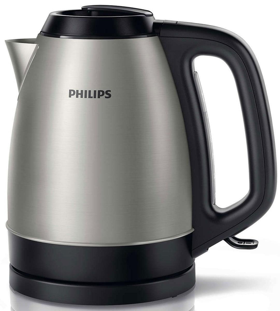 Philips HD9305/21 электрический чайникHD9305/21Электрический чайник Philips HD9305/21с корпусом из нержавеющей стали и регулятором разработан в Великобритании. Прибор безопасен в использовании и отличается долгим сроком службы. Плоский нагревательный элемент из нержавеющей стали обеспечивает быстрое кипячение и простую чистку. Откидную крышку можно полностью снять для более простой очистки. Чайник имеет понятный индикатор уровня воды на задней панели. Шнур оборачивается вокруг основания, что позволяет легко разместить чайник на кухне. Благодаря съемному фильтру от накипи вы будете пить чистую воду.