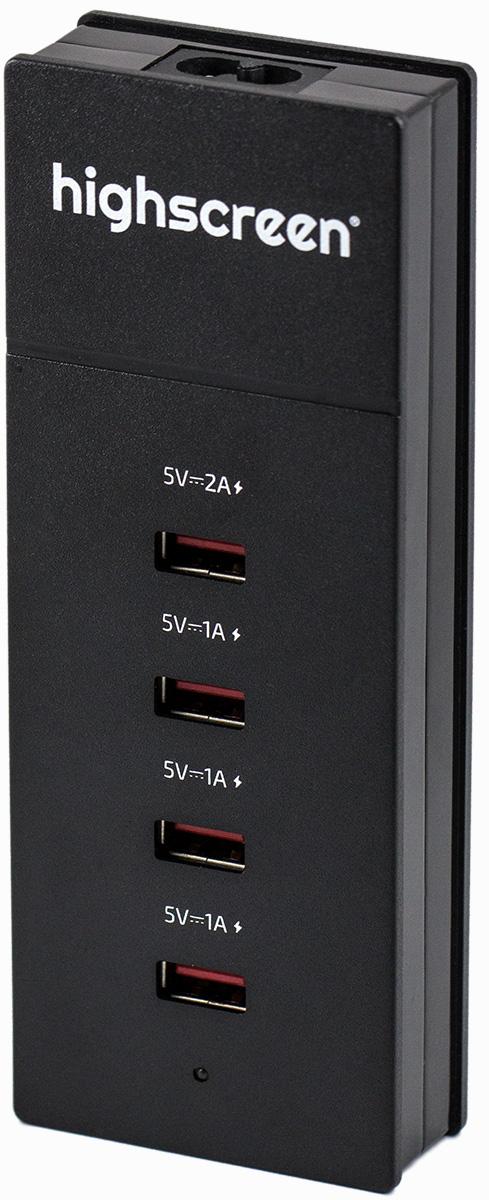 Highscreen 22419, Black сетевое зарядное устройство емкость для масла solmazer цвет сиреневый 500 мл