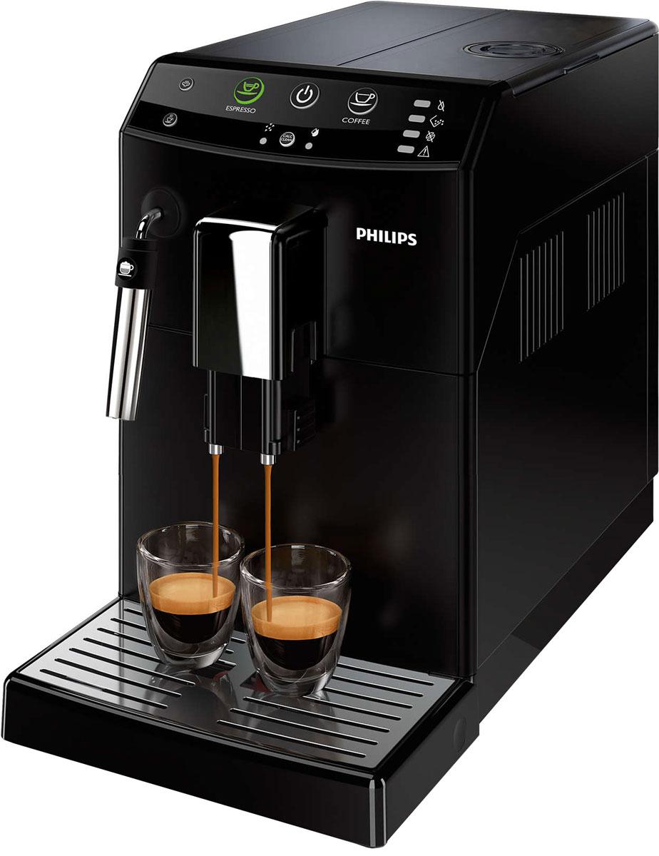Philips HD8822/09 кофемашинаHD8822/09Готовьте идеальный эспрессо, извлекая из каждого свежего зерна вкус до последней капли! 100%-но керамические жернова не перегревают кофейные зерна, а благодаря классическому капучинатору пенка готовится одним нажатием кнопки. Приготовьте одну или сразу две порции превосходного эспрессо, сваренного из свежемолотых кофейных зерен, просто нажав на кнопку и подождав несколько секунд.Классический капучинатор, который бариста называют панарелло, используется для приготовления с помощью пара деликатной молочной пены для вашего капучино. Почувствуйте себя бариста — готовьте вкусные молочные напитки традиционным способом!Забудьте о жженом привкусе кофе благодаря 100%-но керамическим жерновам, которые не перегревают зерна. Керамика гарантирует долгий срок службы и бесшумную работу.Выберите одну из пяти степеней помола на ваш вкус — от самого тонкого для приготовления насыщенного крепкого эспрессо до самого грубого для более легкого вкуса.Благодаря функции запоминания вы можете запрограммировать и сохранить нужный объем, чтобы всегда готовить любимый кофе так, как вам нравится. Одним нажатием кнопки вы сможете сварить великолепный напиток любого объема.Интуитивно понятный и простой пользовательский интерфейс с большими кнопками позволяет с легкостью управлять кофемашиной, в полной мере используя ее возможности.Положение носика подачи кофе настраивается одним простым движением, поэтому вы сможете готовить горячий и ароматный кофе, используя чашку любого размера. При установке носика в самое высокое положение вы сможете использовать даже бокал для латте макиато высотой 15 см.Кофемашина не занимает много места благодаря компактной конструкции, а вместительные контейнеры для зерен и отходов и резервуар для воды не требуют частого наполнения или опустошения. Интеллектуальная автоматическая кофемашина гарантирует максимальное удобство использования и производительность. Высокая емкость резервуаров: резервуар для воды — 1,8 л, контейнер для зерен 