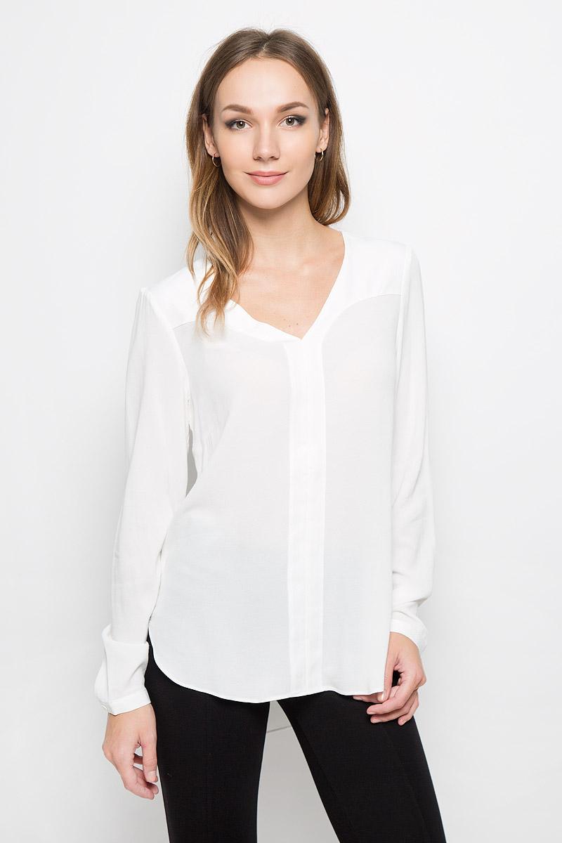 Блузка женская Selected Femme, цвет: белый. 16051898. Размер 36 (42) рубашка женская selected femme цвет молочный 16052017 размер 40 46