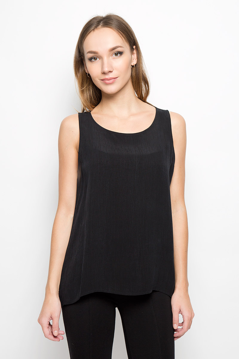 Топ женский Selected Femme, цвет: черный. 16051835. Размер 40 (46)