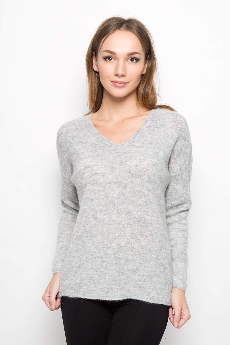 Пуловер женский Selected Femme, цвет: серый. 16051606. Размер M (44)